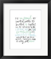 Framed Psalm 139 Color