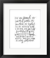 Framed Psalm 139