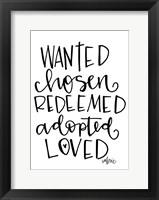 Framed Wanted, Chosen