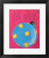 Framed Blue Ornament