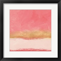 Framed Coral and Abstract I