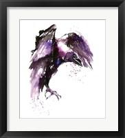 Framed Halloween Crow