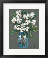 Framed Vintage Blues with Cotton