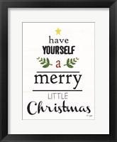 Framed Merry Little Christmas
