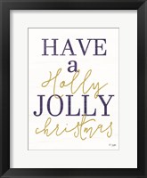 Framed Holly Jolly Christmas