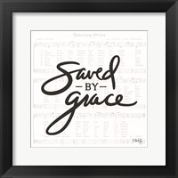 Framed Saved by Grace
