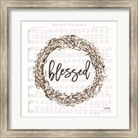 Framed Blessed Assurance Bless Wreath