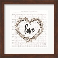 Framed Old Rugged Heart Love Wreath