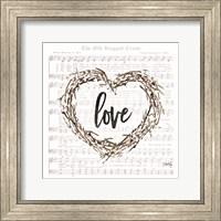 Framed Old Rugged Heart Love Wreath