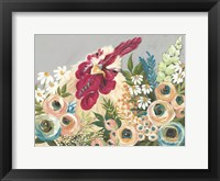 Framed Hen in the Flower Garden