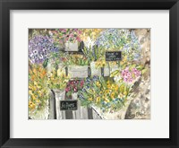 Framed French Flower Market