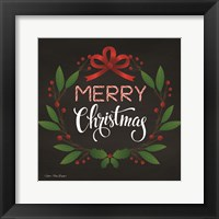 Framed Peppermint Merry Christmas