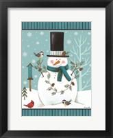 Framed Top Hat Snowman