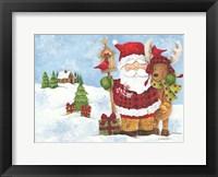 Framed Lodge Santa