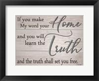 Framed Truth Shall Set You Free