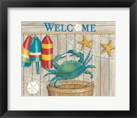 Framed Blue Crab & Basket