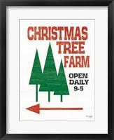 Framed Christmas Tree Farm