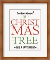 Framed Rocking Around the Christmas Tree