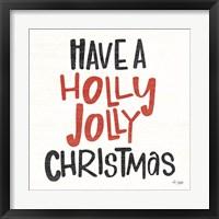 Framed Holly Jolly Christmas