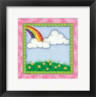 Framed Rainbow & Clouds