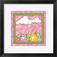 Framed Clouds & Flowers