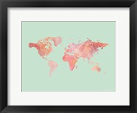 Framed Marble World Map