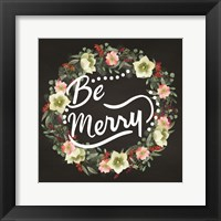 Framed Be Merry Wreath