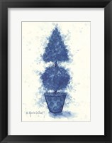 Framed Blue Cone Topiary