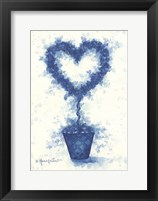 Framed Blue Heart Topiary