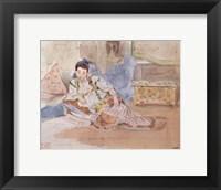 Framed Arab Woman Seated