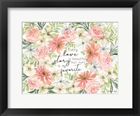 Framed Floral Love Story