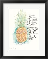 Framed Blessed Pineapple