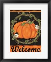 Framed Chickadee Welcome