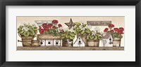 Framed Geranium Shelf