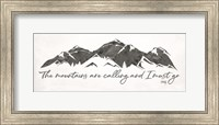 Framed Mountains are Calling