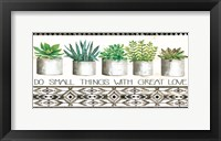 Framed Do Small Things Succulents