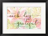 Framed Floral Grateful Heart