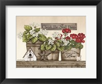 Framed Cherish the Small Things Geraniums