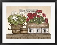 Framed Count Your Blessings Geraniums