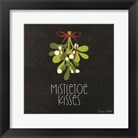 Framed Mistletoe Kisses