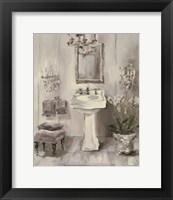Framed French Bath III Gray