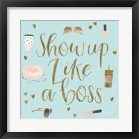Boss Ladies VII Mint Framed Print