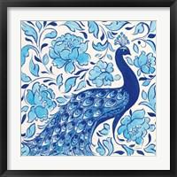 Framed Peacock Garden IV
