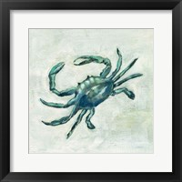 Framed Indigo Sea Life II