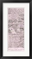 Framed Plan de Paris Panel on Wood v2 Blush