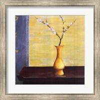 Framed Yellow Vase