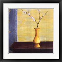 Framed Yellow Vase