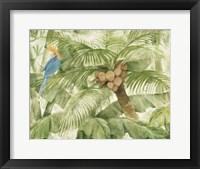 Tropical Canopy I Green Framed Print