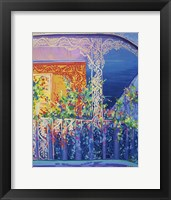 Framed New Orleans Balcony With Flowers