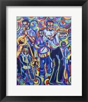 Framed New Orleans Street Jazz Music